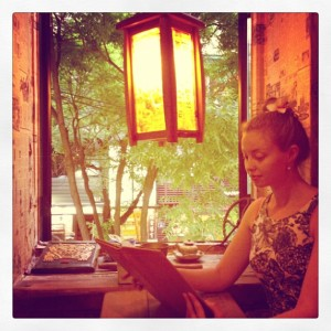 Chillin' at a teahouse