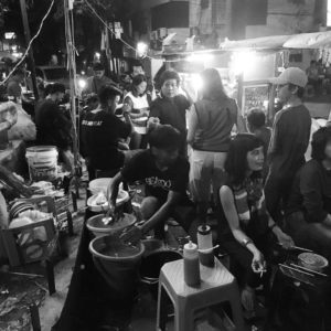 Street food is a big part of life in Jakarta. Delicious and super cheap, buying local food from vendors is the ultimate tourist experience. It also provides an interesting window on life in the city - just across the road is a glittering megamall selling Louis Vuitton.